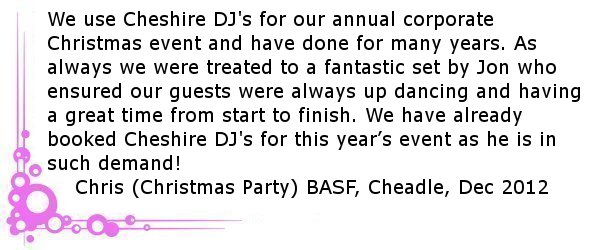 Corporate Cheshire DJ Review