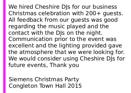 Christmas Party Review Cheshire ...