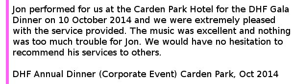 Carden Park Corporate Event DJ Review